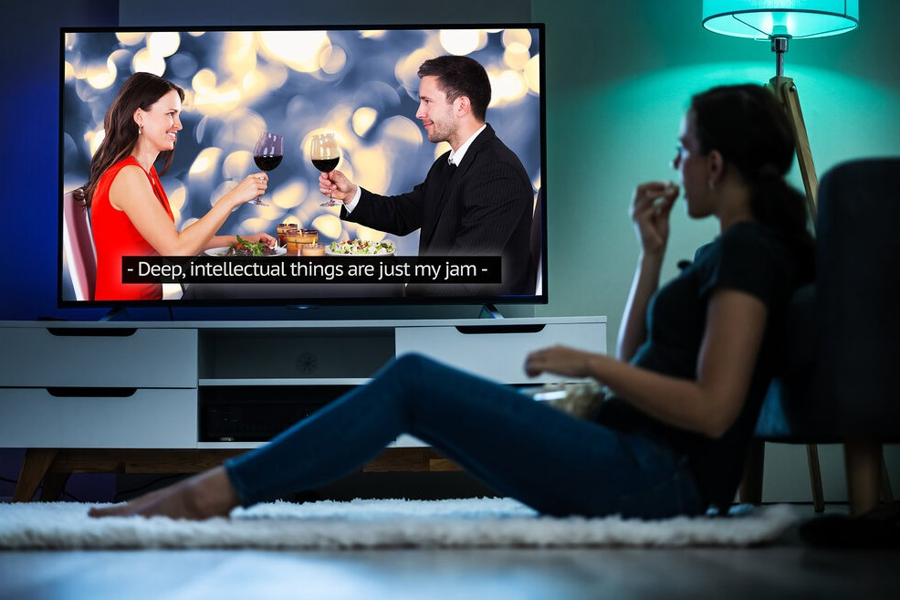 The Need for Television, Video, and Movies Using Captioning Services